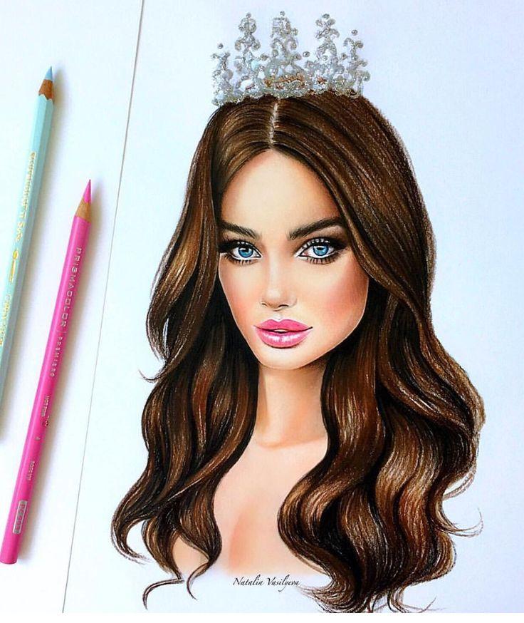 Картинки красивых девочек с коричневыми волосами