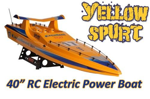 This radio 40 inch long radio controlled boat is powered by a 540 type racing motor with a built-in water cooling system, which provides a huge amount of torque and thrust to be delivered over extended periods.