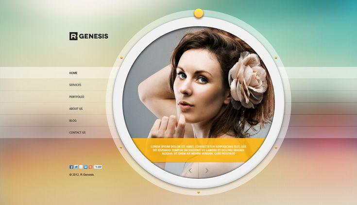 R.Gen - Circle Creative PSD Template - ThemeForest Previewer