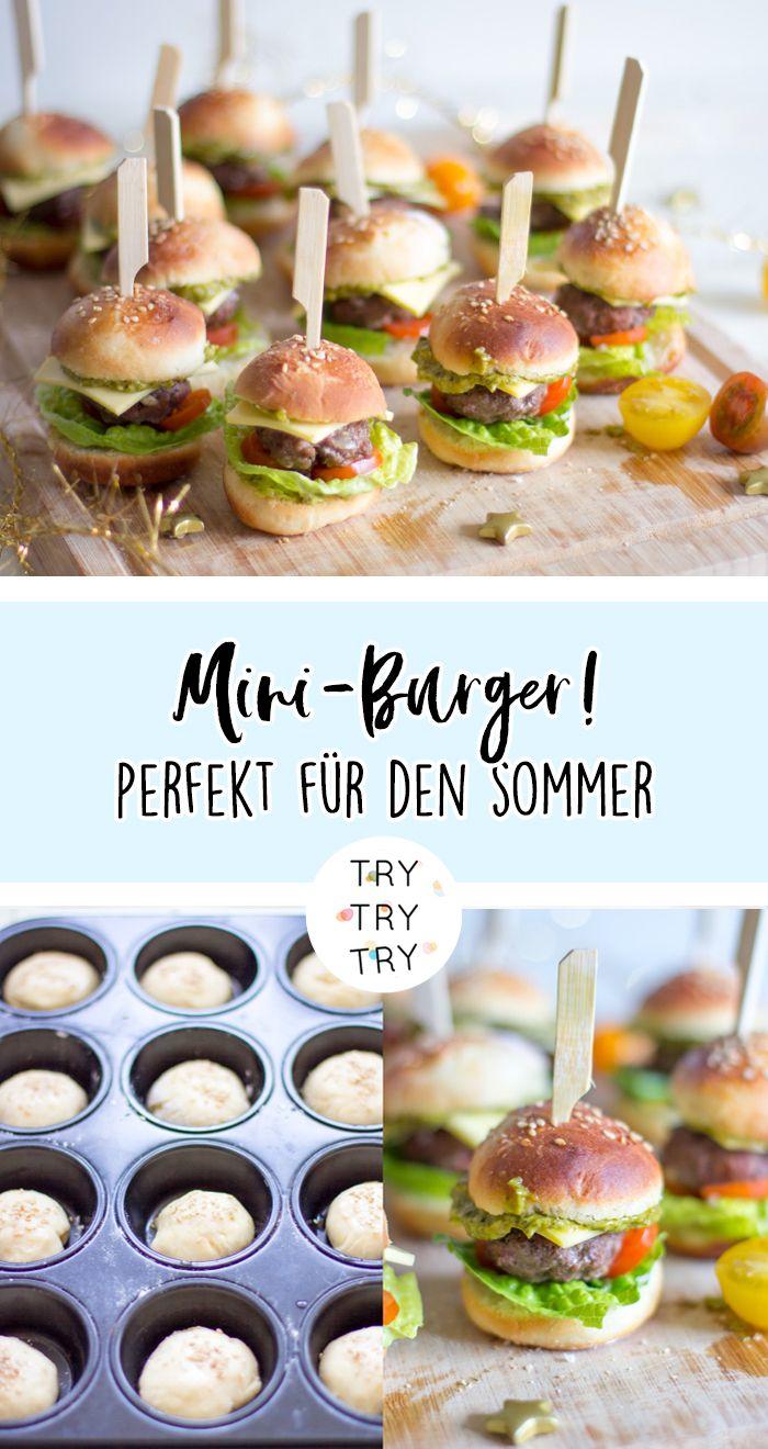 Der perfekte Party Snack! Mini-Burger  Fingerfood rezepte