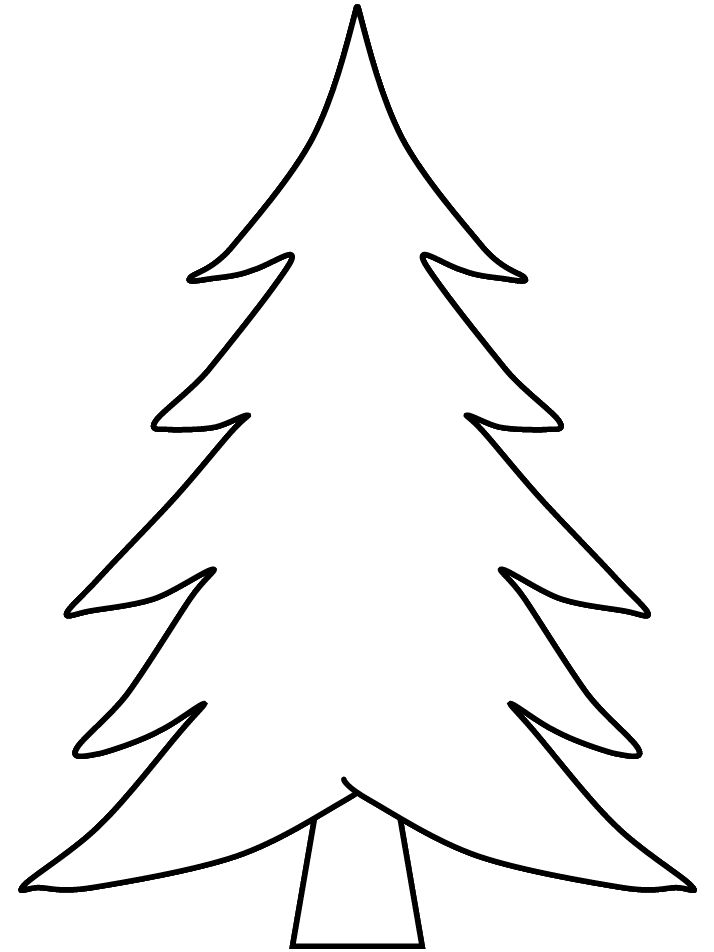 Template For Christmas Tree - AZ Coloring Pages