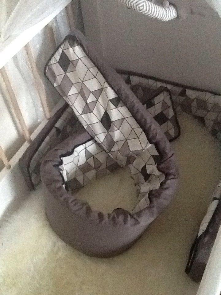 Sengerand #2 3cm hobbymadras købt i jysk, tekstil +skråbånd i stof&stil