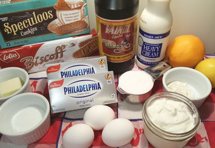 Cast of Ingredients for Pressure Cooker New York Cheesecake Image