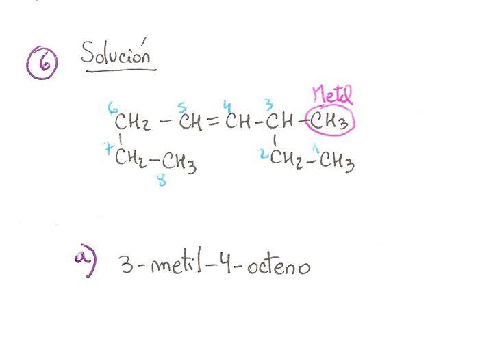 Ejercicio resuelto 06, formulación orgánica de Alquenos. Ejercicio de múltiple opción.