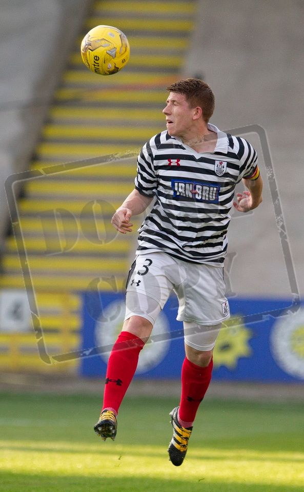 Queen's Park's Scott Gibson in action during the IRN-BRU Cup game between Partick Thistle Colts and Queen's Park.