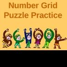 This powerpoint reviews number grid puzzles with your students. There are 16 slides (14 number grid puzzles). Project the number grid puzzle onto your smartboard, promethean board, or just your wipeboard and students can instantly take turns going up to the board and practicing filling in the number grid puzzles.