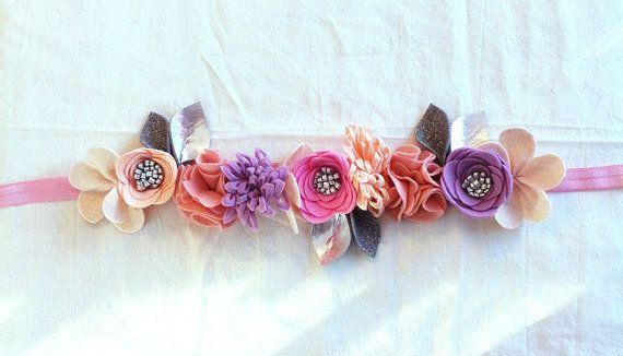 Felt Flower Crown // Full Crown // Blush Lilac by fancyfreefinery