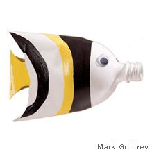 Make a Fish from Recycled Plastic Bottle