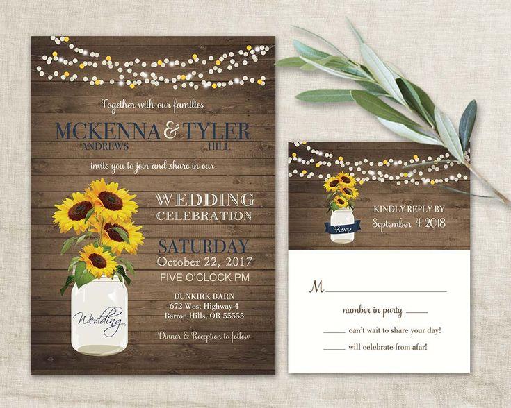 36 best sunflower wedding invitations unique and creative for Digital wedding invitations