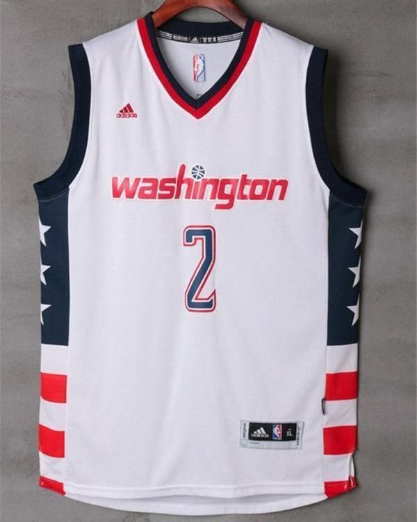 check out 8a57b e1b62 Men 2 John Wall Jersey White Washington Wizards Throwback ...
