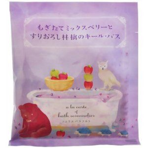 "Kiel bus grated apple and mixed berry Mogitate Somuriebasusoruto 40g by SOMURIEBASUSORUTO. $8.14. Japanese retail packaging ( Manual and instruction, if any, are in Japanese only. ). Contents: 40g. ""Kiel bus grated apple and mixed berry Mogitate Somuriebasusoruto 40g"" is a product of a berry and apple wine Bath salts that makes you feel refreshed lazy cocktail style recipes. Mix the Moisturizing ingredients, natural salt is added, Grape juice ferment filtrate Wine ex..."