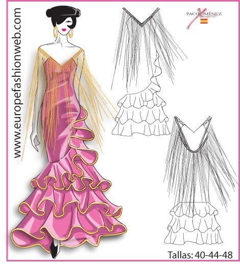 """Vestido de flamenca """"Capote"""""""