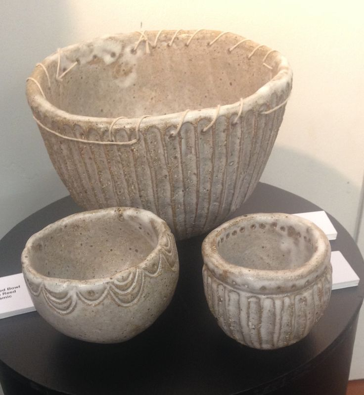 Bowls for the kitchen, hand built, exhibition 2014