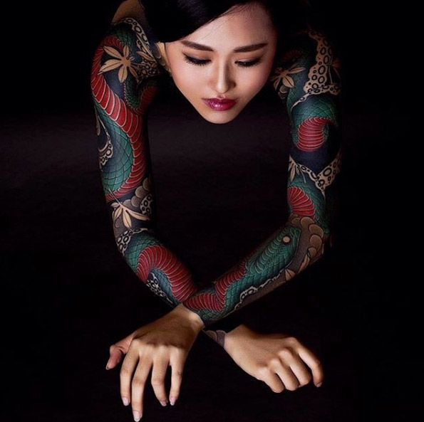 Traditional Japanese full sleeves via Diauto