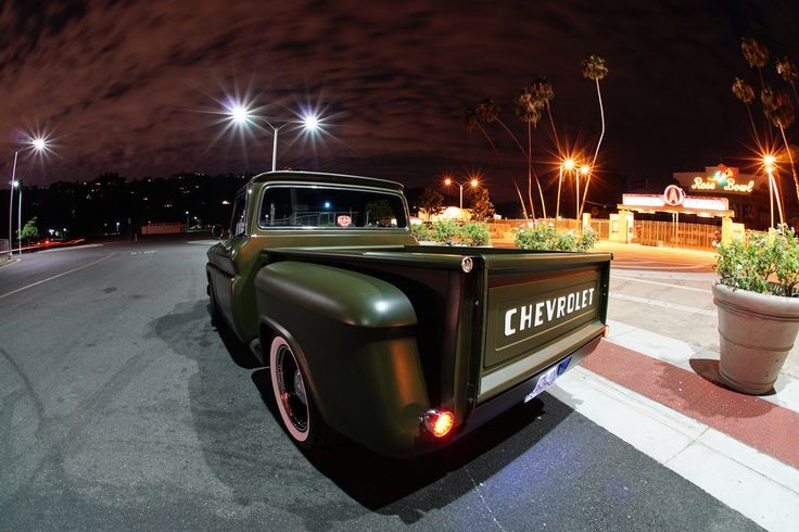 My 1966 Chevy C10 Stepside Pickup parked in front of the Rose Bowl.  Pasadena, CA