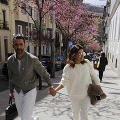 Eva Longoria and husband Jose Baston arrive in Madrid