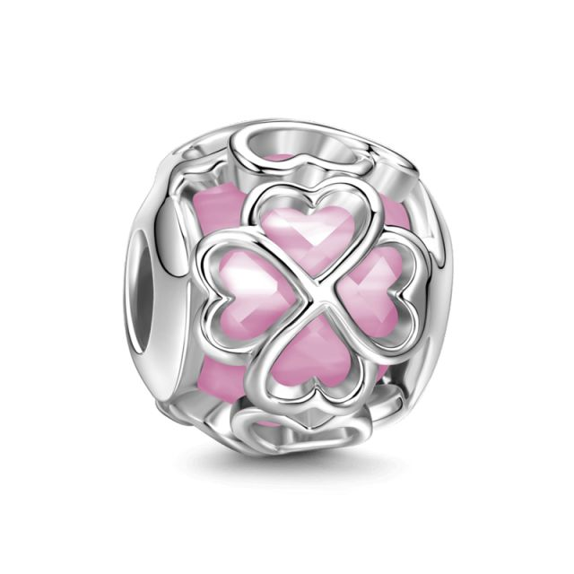 Pink Lucky Stone - Good Luck - Charms