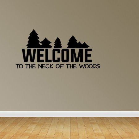 Hunting Wall Decal Hunting Decor Neck Of The Woods Rustic Wall Decals JP271
