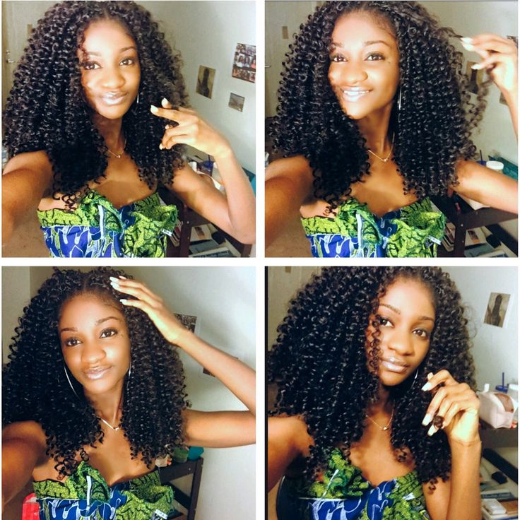 This Is Crochet Braids Using Freetress Romance Curl