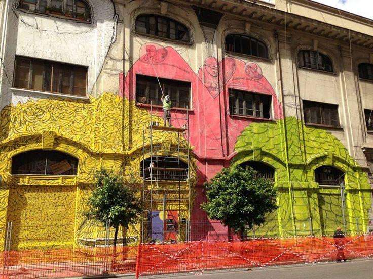 The Colossal and Notable Graffiti by Blu Rome ..10/2013 via del porto fluviale.