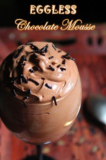 YUMMY TUMMY: Dark Chocolate Mousse Recipe / Chocolate Mousse Recipe without Eggs