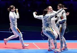 """Képtalálat a következőre: """"2016-os nyári olimpia - Román női párbajtőr csapat -- Aranyérem"""""""