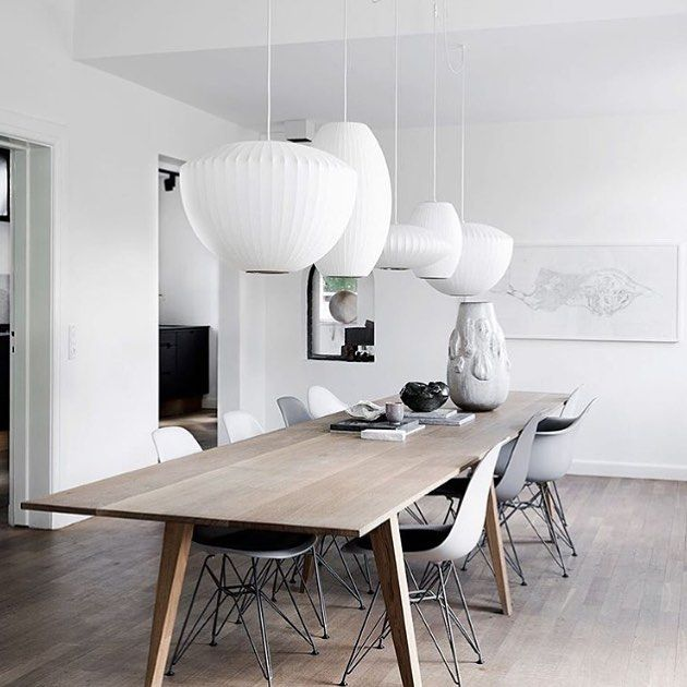 The gorgeous dining room of architect Maria Schei. Love the beautiful dining table which designed by the architect herself. Image via Real Living Magazine. Photography: Tia Borgsmidt Styling: Mette Helena Rasmussen. . #homedecor #interiør #homrinterior #nordichome #nordicliving #nordicinspiration #scandinavian #scandihome #scandinavianhome #mynordicroom #whiteinterior #diningroom #diningroomdecor #whiteinterior #whiteliving #interiordesign #interiordesigner #scandicinterior #homedesign…
