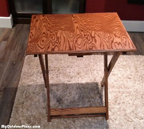 DIY Folding TV Tray   MyOutdoorPlans   Free Woodworking Plans and Projects, DIY Shed, Wooden Playhouse, Pergola, Bbq