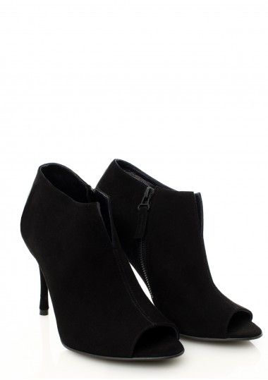 SEPALA - Botine piele intoarsa neagra  #botine #boots #moja #sepala #leatherboots