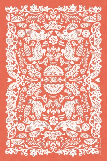 Carton d'invitation mariage papel picado (portrait) - by Tomoë pour…