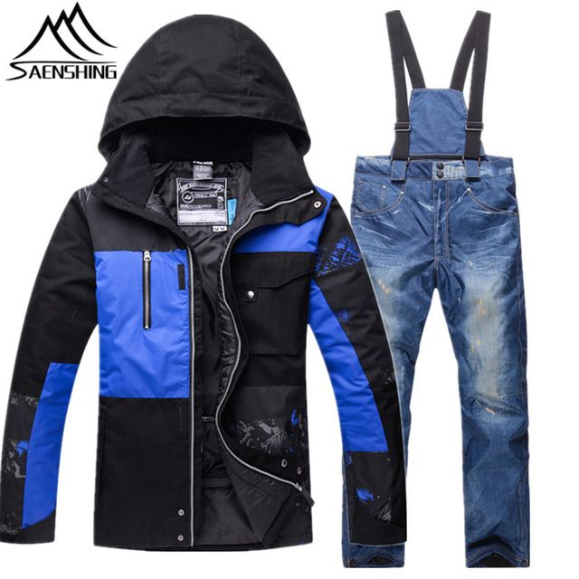 Better Price $93.86, Buy Saenshing New Ski Suits for Men Ski Jacket Pants Waterproof Breathable Snowboarding Snow Suits Male Warm Outdoor Sports Sets