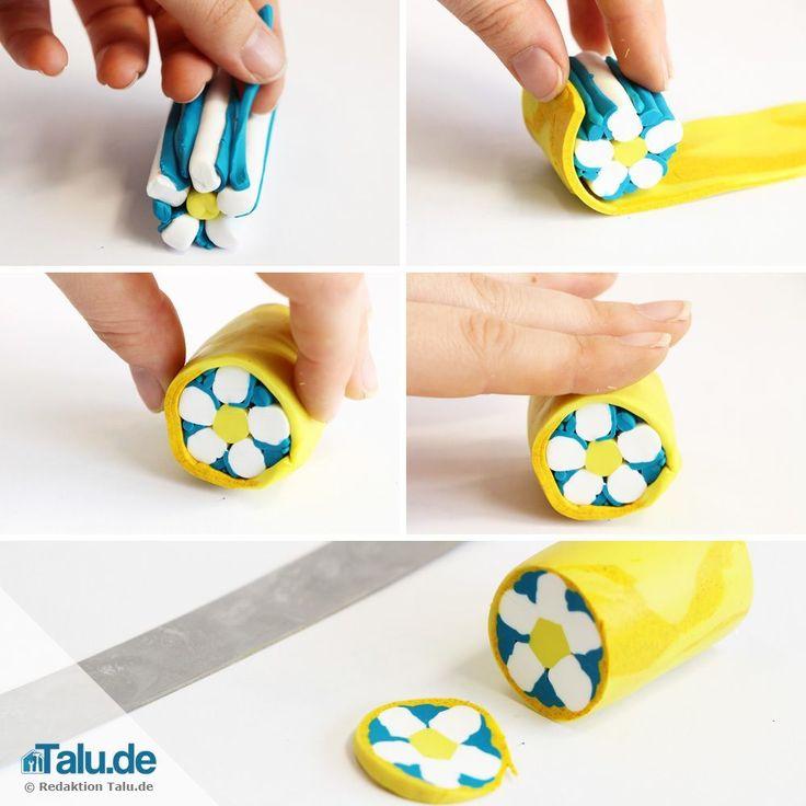 Fimo cane basteln 02 beads beads beads pinterest for Bastelideen fa r senioren anleitung