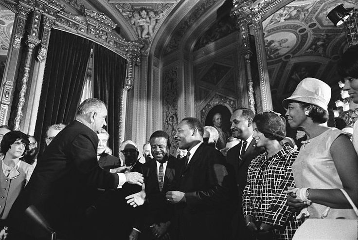 Images of Martin Luther King Jr. Meeting with the President Lyndon Johnson.