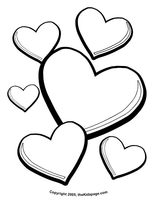 Valentine Day Printable Coloring Pages Valentines Hearts Free For Kids