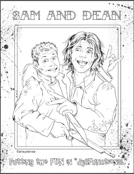 203 best tv coloring images on pinterest coloring pages for Supernatural coloring pages