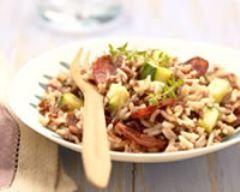 Risoto de riz de camargue : http://www.cuisineaz.com/recettes/risotto-de-riz-de-camargue-igp-aux-courgettes-et-au-chorizo-48061.aspx