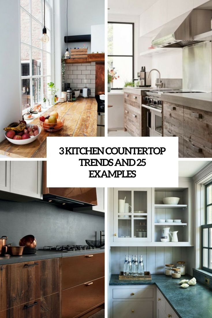 3 kitchen countertop trends and 25 examples countertop examples kitchen trends