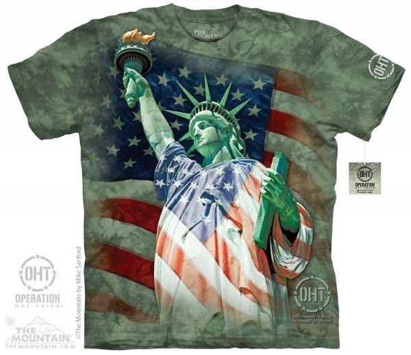 The Mountain Hero T Shirt Defending Liberty Military Shirts 104830