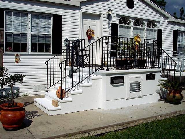 Good 44 Front Door Steps, Small Porch On Manufactured Home