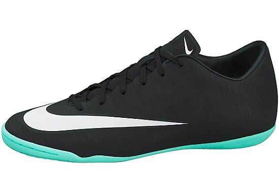 Nike Mercurial CR7 Victory V IC Indoor Shoes - Black and Turquoise