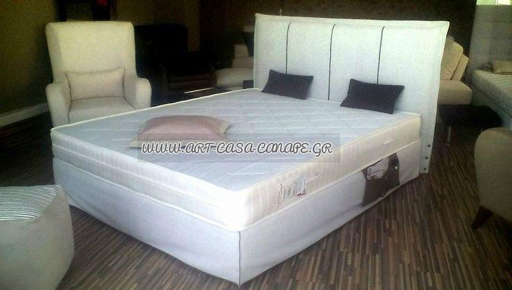 Κρεβάτι με αφαιρούμενο κάλυμμα για εύκολο καθάρισμα, μεταλλικό πλαίσιο ανατομικό.  Σε διάφορες διαστάσεις !!! Με αδιάβροχα υφάσματα. .. art casa canape