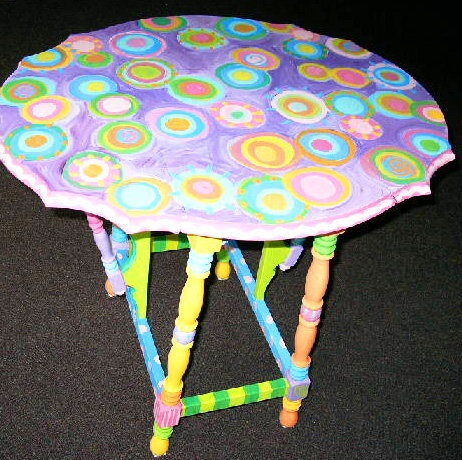 painted table cool idea for birthdays with a chair