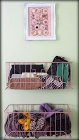 small storage for clutches and scarves maybe belts too... perfect for the back of the closet door!!