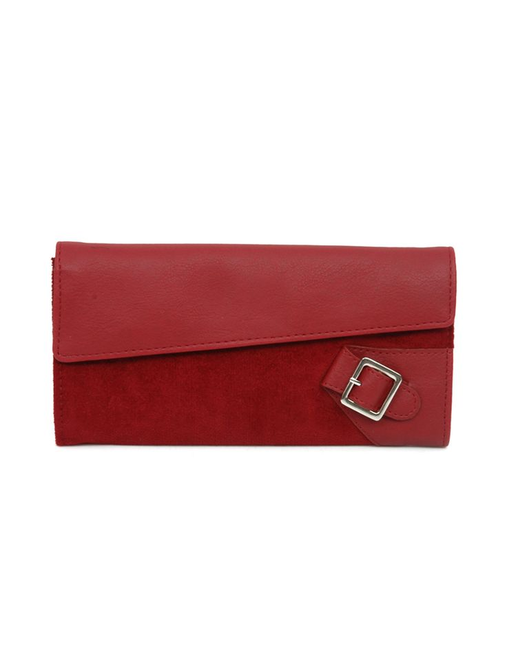 W Valley Hoor Red Functional red wallet by Baggit.  www.baggit.com