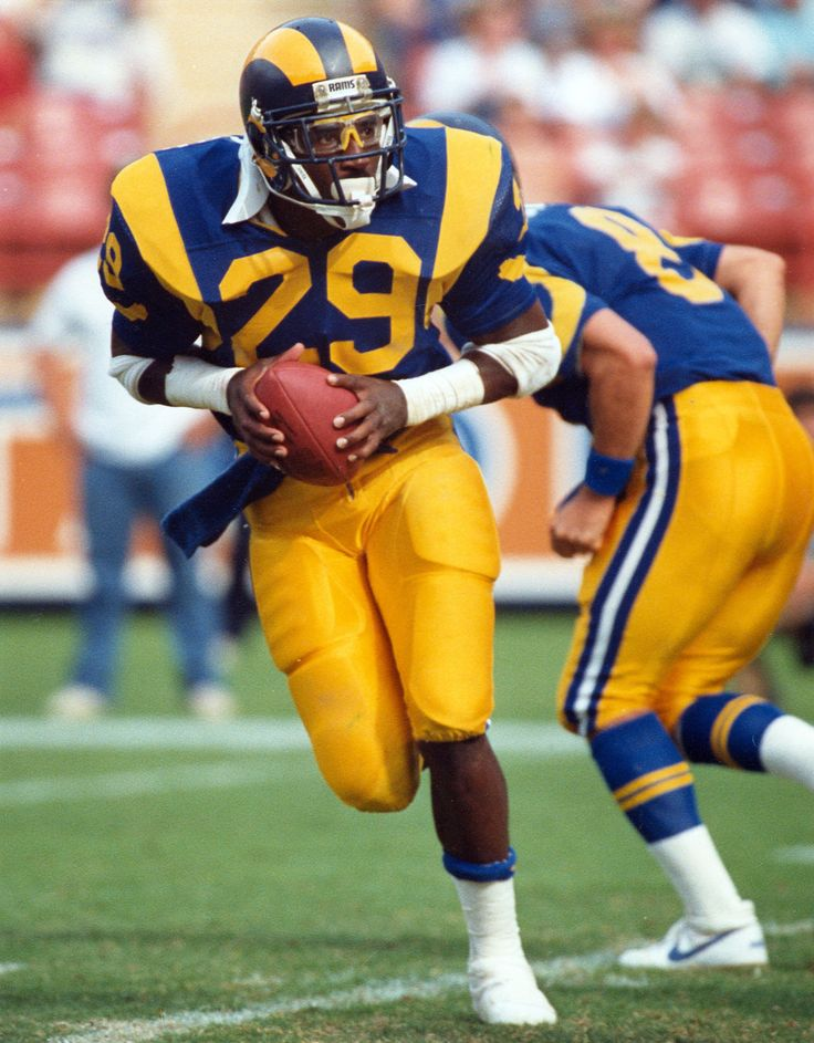 """NFL & Rams Record: Eric Dickerson #29 (""""The Great ED"""") rushed for an NFL record 2,105 yards in 1984. Nobody has beaten him yet...closest was Adrian Peterson of the Vikings, I think..!?!"""