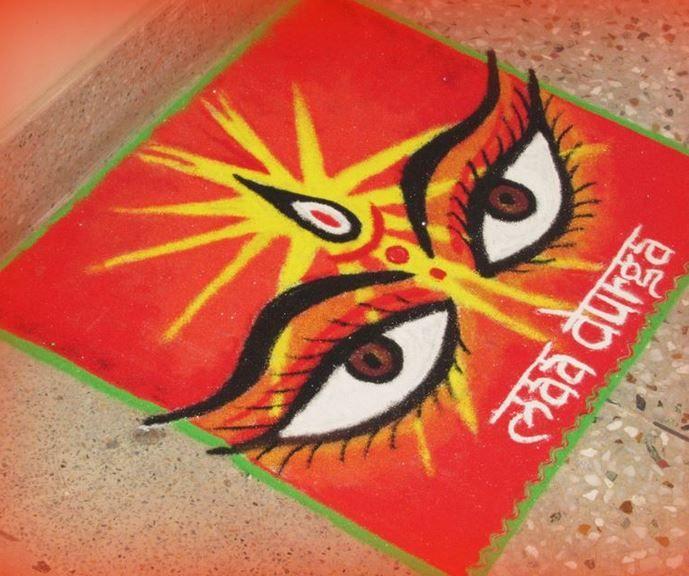 Rangoli Designs for Dussehra
