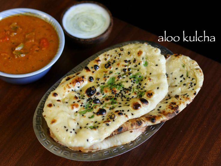amritsari kulcha recipe, aloo kulcha recipe with step by step photo/video. punjabi cuisine indian flat bread served with chole masala or chana masala recipe