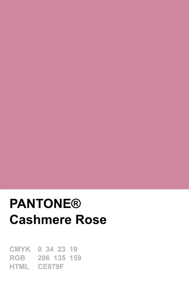 Pantone 2015 Cashmere Rose