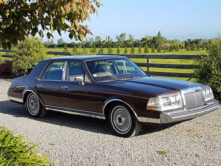 1986 Lincoln Continental Givenchy Edition Lincoln Continental Lincoln Lincoln Cars