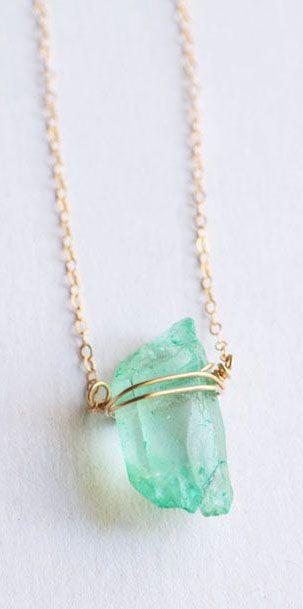 Mint Crystal Quartz Necklace